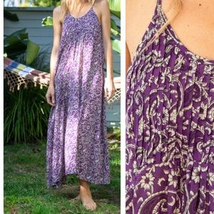 Kerry Cassill Indian Cotton maxi lounge dress